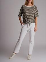 Women Loro Piana Striped T-Shirt - Green Size M UK 10 US 6