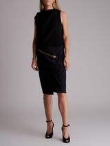 Women Tom Ford Zipper Skirt - Black Size S UK 8 US 6 IT 40