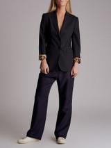 Women Dolce & Gabbana Pinstripe Blazer - Navy Size S UK 8 US 4 IT 40