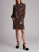 Women Chloé Flower Print Midi Dress - Multicolour Size S UK 8 US 4 FR 36