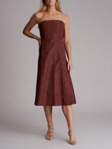 Women Chloé Strapless Dress - Burgundy Size M UK 10 US 6 FR 38