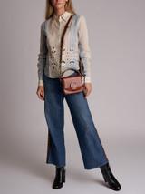 Women Chloé Striped Cut-Out Shirt - White Size M UK 10 US 6 FR 38