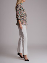 Women Prada Geometric Print Blouse - Multicolour Size S UK 8 US 4 IT 40