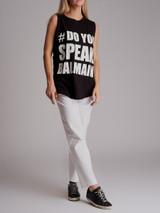 Women Balmain Do You Speak Balmain T-Shirt - Black Size S UK 8 US 4 FR 36