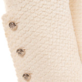 Women Chanel Tweed Jacket with Zipper White - Size S  White US 6 FR 38