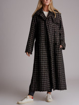 Women Sonia Rykiel Embellished Tweed Coat - Grey Size S UK 8 US 4 FR 36