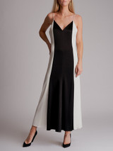 Women Racil Contrast Maxi Spaghetti Strap Dress - Black Size S UK 8 US 4 FR 36