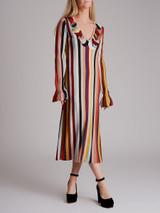 Women Marco de Vincenzo Multicolour Striped Maxi Dress - Multicolour Size UK 8 US 4 IT 40