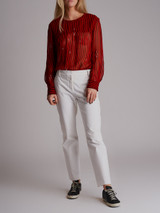 Women Isabel Marant Étoile Striped Charley Blouse - Red Size M UK 10 US 6 FR 38