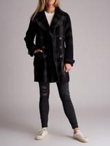 Women Burberry Brit Wool Blend Coat - Grey Size XXS UK 4 US 00 IT 36