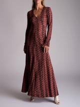 Women Alexa Chung Leopard Maxi Dress - Pink Size M UK 10 US 6 FR 38