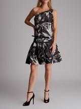 Women Gucci One Shoulder Floral Dress - Black Size M UK 10 US 6 IT 42