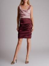 Women Dolce & Gabbana Silk Draped Dress - Pink Size M UK 10 US 6 IT 42