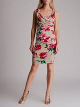 Women Dolce & Gabbana Ruched Floral Dress - Multicolour Size M UK 10 US 6 IT 42