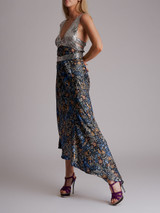 Women Paco Rabanne Metal Embroidered and Printed Maxi Dress - Multicolour Size S UK 8 US 4 FR 36