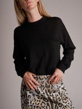 Women Joseph Crewneck Sweater - Black Size M UK 12 US 8