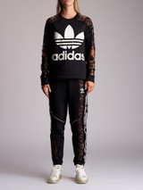 Women Adidas x Stella McCartney Logo Printed Lace Detail Tracksuit - Black Size XS/S UK 6/8 US 2/4