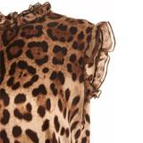 Women Dolce & Gabbana Leopard Print Silk Top - Size S  Multi US 6 IT 42