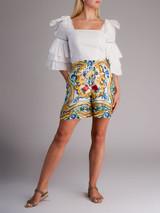 Women Dolce & Gabbana Majolica Printed Shorts - Multicolour Size XS UK 6 US 0 IT 38