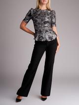 Women Isabel Marant Grey Metallic Silk Ruffled Top - Size S UK 8 US 4 FR 36
