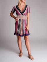 Women Missoni Belted Mini Dress - Multicolour Size XS UK 6 US 0 IT 38
