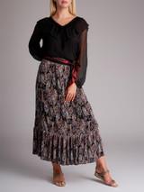 Women Zimmermann Pleated Floral Skirt - Multicolour Size L UK 14 US 10 IT 46