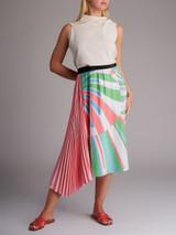 Women Emilio Pucci Asymmetric Pleated Skirt - Multicolour Size L UK 12 US 10 IT 44