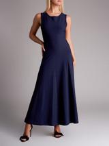 Women Alaïa Knit Maxi Dress - Navy Blue Size M UK 12 US 8 FR 40