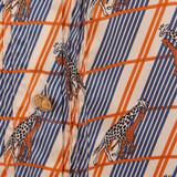Women Gucci Giraffe Print Checked Silk Cami Top -  Multi Size M US 8 IT 44