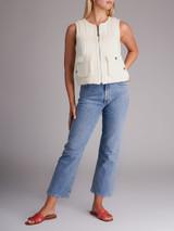 Women Chanel Sleeveless Vest - White Size M UK 12 US 8 FR 40