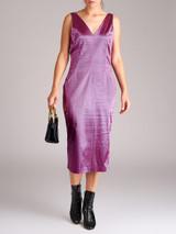 Women Dolce & Gabbana Vintage Fuchsia Patterned Midi Dress - Size L UK 14 US 10