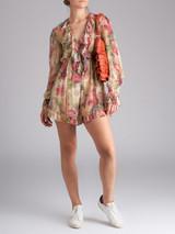 Women Zimmermann Multicolour Silk Floral Jumpsuit - Size S UK 8 US 4
