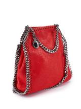 Women Stella McCartney Red Leather Mini Falabella Bag