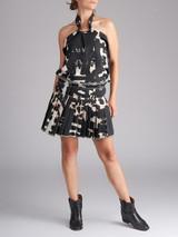 Women Isabel Marant Black Geometric Printed Top & Skirt - Size M UK 10 US 6 FR 38