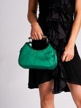 Women Yves Saint Laurent Vintage Small Green Satin Mombasa Hobo Bag