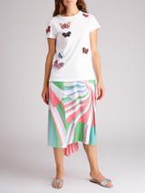 Valentino Garavani White Butterfly Embroidered T-Shirt - Size S UK 8 US 4