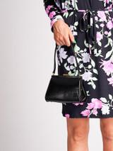Women Gucci Vintage Black Snakeskin Leather Mini Shoulder Bag