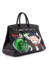 Hermès Personalised Alec Monopoly Black Togo Leather Birkin 40