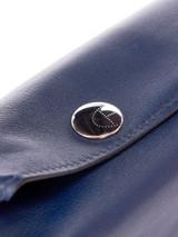 Women Hermès Navy Blue Leather Coin Bag