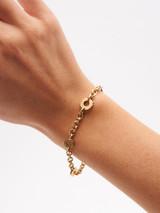 Women Bvlgari 18K Yellow Gold Circle Link Bracelet