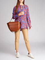 Women Diane von Furstenberg Multicolour Floral Silk Blouse - Size S UK8 US4