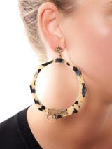 Women GAS Bijoux Brown Tortoiseshell & Gold Tiger Earring