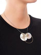 Women GAS Bijoux Silver & White Pearl Butterfly Necklace