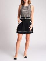 Women Chanel Black Cotton and Wool Detail Shorts - Size XS UK6 US0