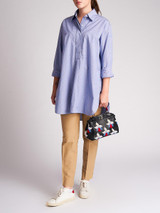Women Celine Blue Polka Dot Print Shirt - Size UK10 US6 FR38