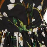 Women Dolce & Gabbana Sleeveless Flower Printed Maxi Gown -  Multi  Black Size S US 6 IT 42