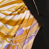 Women Leonard Classic Leonard Print Silk Dress -  Multi  Yellow  Black Size M US 8 FR 40