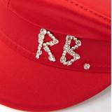 Women Ruslan Baginsky Satin Baker Boy Hat Red - Size M