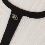Women Chanel Short Sleeve Dress with Centre Stripe White - Size M  White US 8 FR 40
