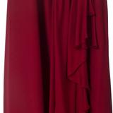 Women La Perla Sleeveless Silk Empire Dress Red - Size M  Red US 8 IT 44